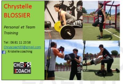 Chrystelle taffoureau blossier coach sportif à Latresne 33360